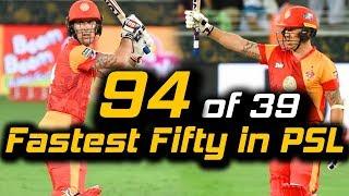 Luke Ronchi Fastest Fifty in PSL | Islamabad United Vs Karachi Kings | HBL PSL 2018