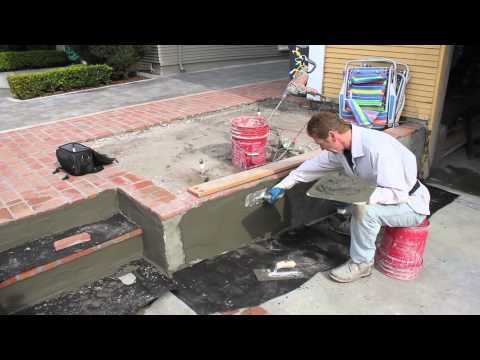 straighten out a bow stucco skim coat on concrete