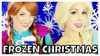 Elsa and Anna FROZEN Christmas songs with Olaf