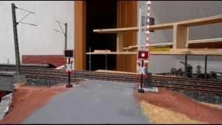 Beschrankter Bahnübergang auf meiner Modellbahnanlage
