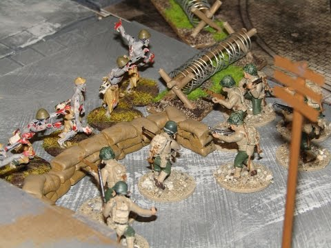 Bolt Action Battlereport 4 Zombies vs American Demo Game