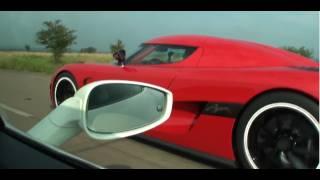 Koenigsegg Agera R vs Ferrari 458 Italia Interiour view (Race #1 from Ferrari)