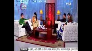 celebrity talk show VALOBASAR SONDHI (nowshin_hillol) @ Tamim Hasan & Faria