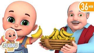 Lalaji Ne kela khaya - लाला जी ने केला खाया - Hindi Rhymes for Children by Jugnu Kids