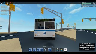 MTA Bus: Kew Gardens bound 1999 Orion V CNG Q10 [#9900] @ JFK Access Road