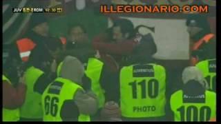 Juve Roma 1-2 - Gol Totti e Riise - commento Carlo Zampa