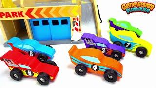 Ensinar Cores do Bebe com Carros do Brinquedo do Divertimento