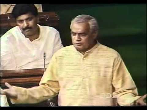 Atal Bihari Vajpayee Speech in Parliament on Confidence Motion - PART 2/2