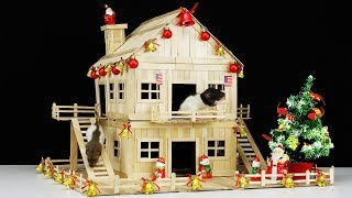 How to Build Christmas House for 2 Pet Rats