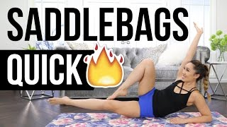 Quick Burn SADDLEBAGS Slimdown! Best Outer Thigh Workout!
