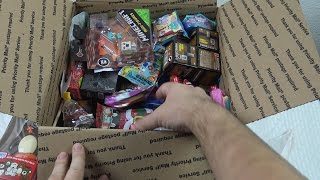 a LOT of CANDY  and 3 BIG surprise BOXES