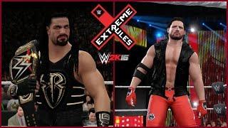 WWE 2K16 (PS4) - AJ Styles vs Roman Reigns - Extreme Rules 2016 Simulation