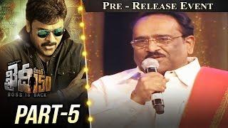 Khaidi No 150 Pre Release Event Part #5 || Megastar Chiranjeevi || Kajal Aggarwal || V V Vinayak