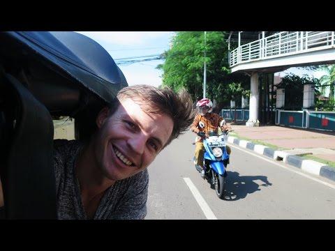 My First Bajaj Ride Exploring Pasar Baru Jakarta