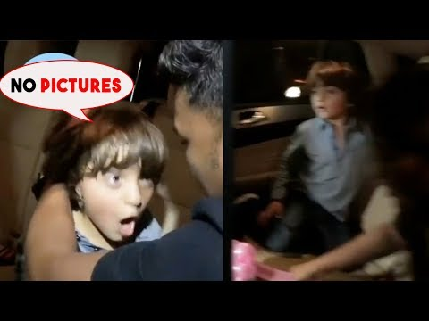 Shah Rukh Khan's Son Abram Khan Gets Angry On Paparazzi For Clicking His Photos