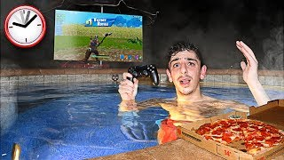 I Spent 24 Hours OVERNIGHT in my Hot Tub & It was a BAD IDEA...
