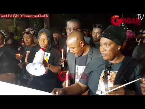 Tears as Aisha Abimbola's family, Saidi Balogun & Sunkanmi lead others at her Candle Night
