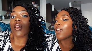 GLOWY SUMMER  Makeup Tutorial for Black Women // Blue Liner | Patty Phattty