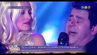 Pichu y Oriana son Alejandro Fernández y Christina Aguilera - Tu Cara Me Suena 2014