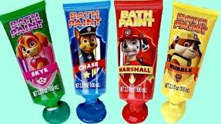 PAW PATROL Bath Time Fingerpaint Activity with Bubbles, Paddlin