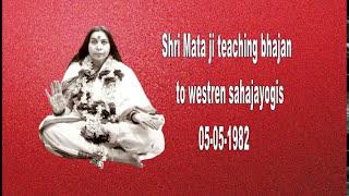 Shri Mata ji Teaching bhajan to western sahajayogis