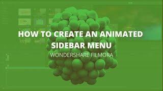Wondershare Filmora -  How to create an animated sidebar menu (Tutorial)