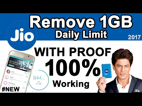 Remove JIO 1GB Daily Limit to 100GB Per Day with PROOF | Bypass Happy New Year OFFER Forever