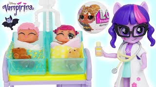 LOL Surprise Doll New Baby Barbie Doctor Visit My Little Pony Rarity Twilight Sparkle Morning Party!