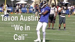 Rams receiver Tavon Austin at Day 1 of training camp