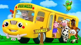 Wheels On The Bus | Nursery Rhyme | Song For Kids | Baby Rhymes by Farmees S02E248