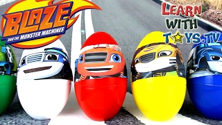 Blaze And The Monster Machines Giant Surprise Eggs