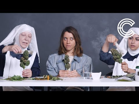 Aubrey Plaza Smokes Pot with the Weed Nuns