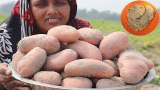 Delicious Alu Porota Recipe Farm Fresh Potato Recipe Village Style Aloo Paratha Cooking Village Food