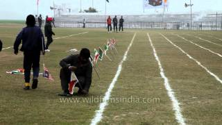 Flags of all countries placed at Kila Raipur stadium by volunteers