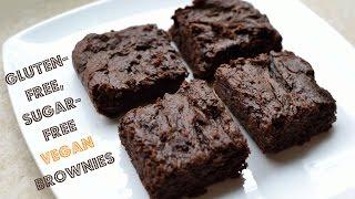Gluten-Free, Sugar-Free Vegan Brownies