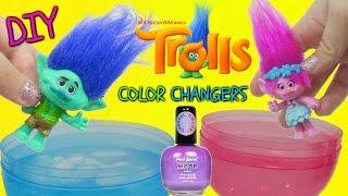 DREAMWOKS TROLLS MOVIE 2016 Color Changing NAIL POLISH DIY Toys