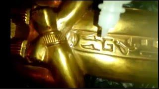 اختبار تماثيل فرعونيه للتاكد من انها اصليه