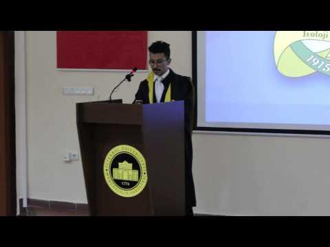 İstanbul Üniversitesi Jeoloji Mühendisliği 100. yıl mezuniyeti etkinliği / Konuşmacı: Aykut EKE