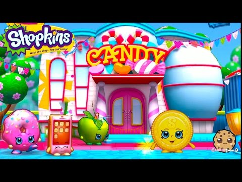Play Welcome To Shopville Shopkins App Game Candy Bag Collecting - Cookieswirlc Video