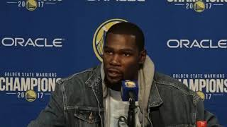 Golden State Warrior Kevin Durant on buzzer beater that wasn't