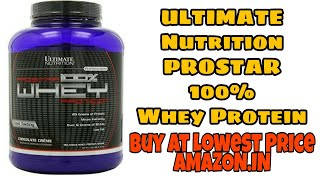 Buy Ultimate Nutrition PROSTAR 100% Whey Protein at Lowest Price | Amazon Supplement Review