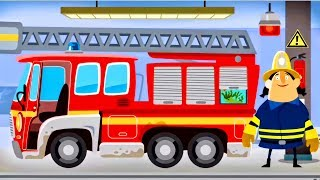 Fire Engine & Firefighters - Game Cartoon For Children - FIRE TRUCK FOR KIDS : Little Fire Station