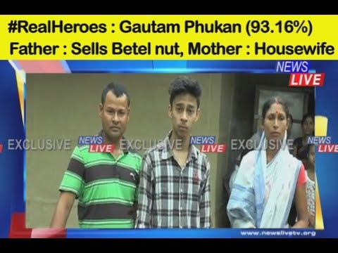 Xxx Mp4 Real Hero Gautam Phukan Of Gohpur Overcame Poverty To Score 93 16 Marks In HSLC Exams 3gp Sex