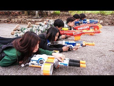 Nerf War HITMAN 😎 Sniper Girl Nerf Guns Criminal Group Rescue Wonder Woman Nerf Movie