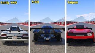 Temos um novo Rei da Velocidade?  Entity xxr Vs X80 vs Taipan - GTA 5 Online