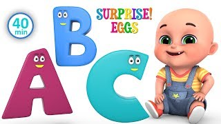 abcd animals rhymes for children   Learn ABCD for kids   kindergarten baby songs by jugnu kids
