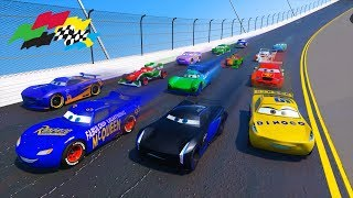Race Cars 3 Daytona Fabulous Lightning McQueen Jackson Storm Cruz Ramirez Danny Swervez and Friends