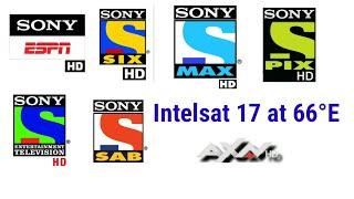 Intelsat17 All Sony Network TV Channels Free Free    Sony HD MAX HD SIX HD ESPN HD SIX HD