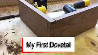 My First Hand-cut Dovetail Joint using a Magnetic Guide