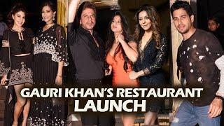 Gauri Khan's Restaurant Launch - Full Video - Shahrukh Khan, Suhana, Sidharth, Jacqueline, Sonam